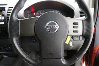 2008 Nissan Navara D40 ST-X (4x4) Red 6 Speed Manual Dual Cab Pick-up