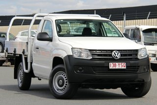 2012 Volkswagen Amarok 2H MY13 TDI400 4Mot White 6 Speed Manual Cab Chassis.