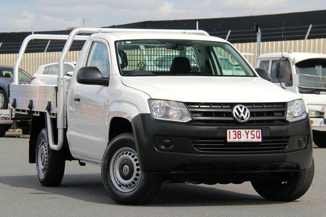 Used Volkswagen Amarok 2H MY13 TDI400 4Mot, 2012 Volkswagen Amarok 2H MY13 TDI400 4Mot White 6 Speed Manual Cab Chassis