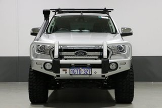 2017 Ford Ranger PX MkII MY17 Update XLT 3.2 (4x4) Silver 6 Speed Automatic Dual Cab Utility.