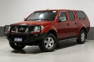 2008 Nissan Navara D40 ST-X (4x4) Red 6 Speed Manual Dual Cab Pick-up.