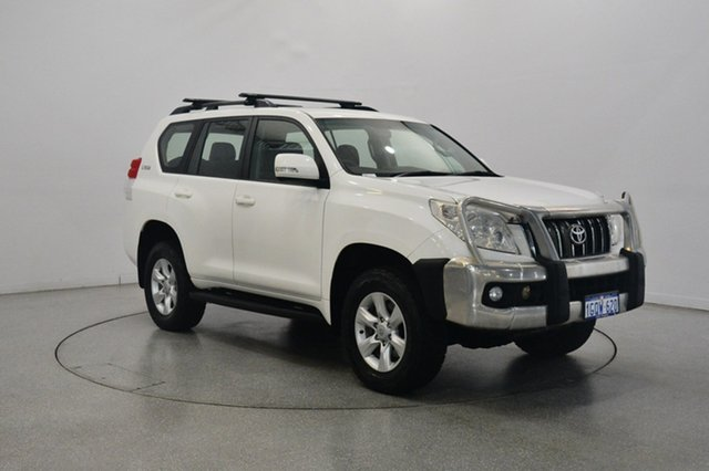 Used Toyota Landcruiser Prado GRJ150R GXL, 2010 Toyota Landcruiser Prado GRJ150R GXL White 5 Speed Sports Automatic Wagon