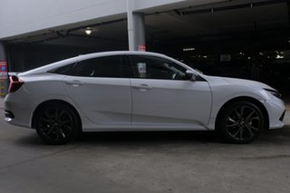2019 Honda Civic 10th Gen MY19 RS Platinum White 1 Speed Constant Variable Sedan.