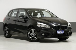 2016 BMW 218i F45 Active Tourer Sport Line Black 6 Speed Automatic Wagon.