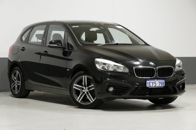 Used BMW 218i F45 Active Tourer Sport Line, 2016 BMW 218i F45 Active Tourer Sport Line Black 6 Speed Automatic Wagon