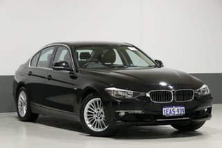 2012 BMW 320i F30 Luxury Line Black 8 Speed Automatic Sedan.
