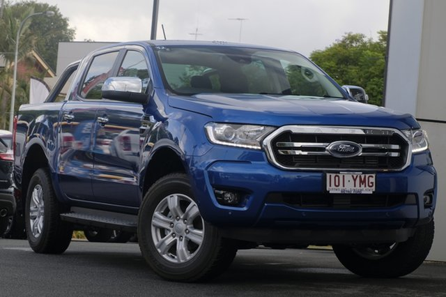Demo Ford Ranger PX MkIII 2019.00MY XLT Pick-up Double Cab, 2018 Ford Ranger PX MkIII 2019.00MY XLT Pick-up Double Cab Blue Lightning 10 Speed Sports Automatic