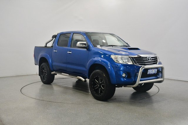 Used Toyota Hilux KUN26R MY14 SR5 Double Cab, 2014 Toyota Hilux KUN26R MY14 SR5 Double Cab Blue 5 Speed Automatic Utility