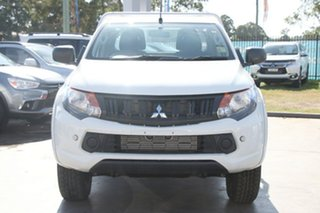 2018 Mitsubishi Triton MQ MY18 GLX Club Cab White 6 Speed Manual Cab Chassis