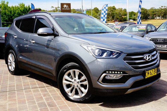Used Hyundai Santa Fe DM3 MY17 Elite, 2017 Hyundai Santa Fe DM3 MY17 Elite Grey 6 Speed Sports Automatic Wagon