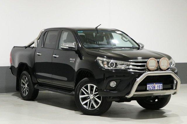 Used Toyota Hilux GUN126R SR5 (4x4), 2015 Toyota Hilux GUN126R SR5 (4x4) Black 6 Speed Automatic Dual Cab Utility