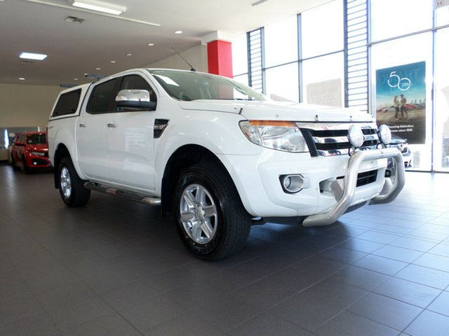 Used Ford Ranger PX XLT Double Cab 4x2 Hi-Rider, 2014 Ford Ranger PX XLT Double Cab 4x2 Hi-Rider White 6 Speed Sports Automatic Utility