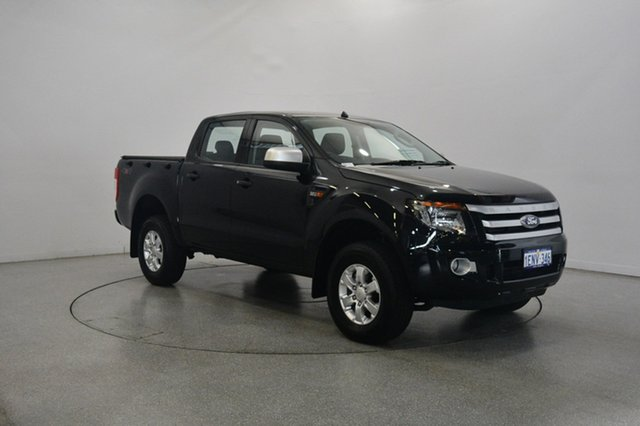 Used Ford Ranger PX XLS Double Cab, 2014 Ford Ranger PX XLS Double Cab Black 6 Speed Manual Utility