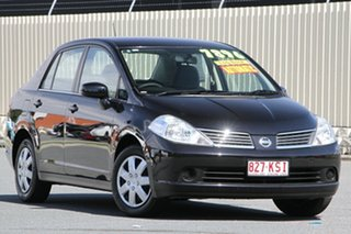 2007 Nissan Tiida C11 MY07 ST Ebony 4 Speed Automatic Sedan.