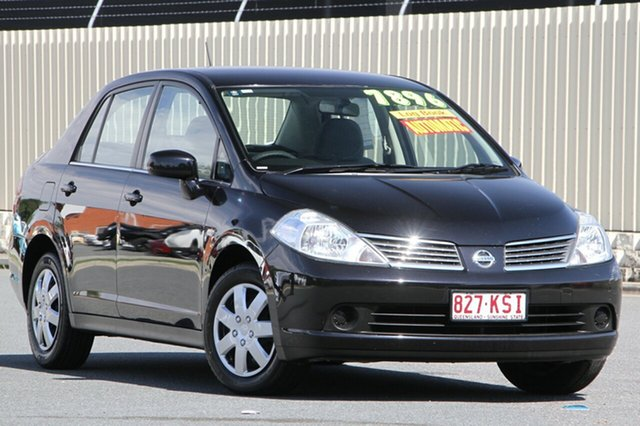 Used Nissan Tiida C11 MY07 ST, 2007 Nissan Tiida C11 MY07 ST Ebony 4 Speed Automatic Sedan