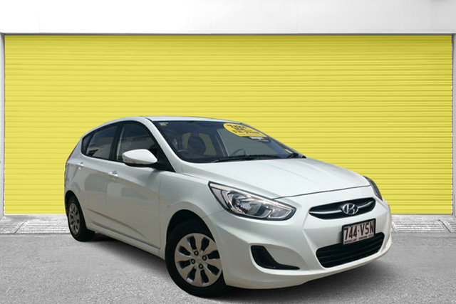 Used Hyundai Accent RB2 MY15 Active, 2015 Hyundai Accent RB2 MY15 Active White 6 Speed Manual Hatchback
