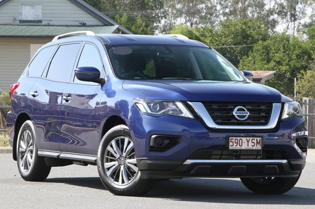 Demo Nissan Pathfinder R52 Series II MY17 ST X-tronic 4WD, 2018 Nissan Pathfinder R52 Series II MY17 ST X-tronic 4WD Caspian Blue 1 Speed Constant Variable