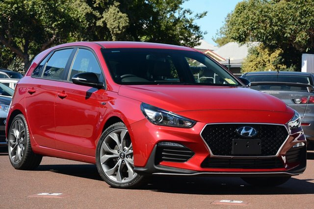 New Hyundai i30 PD.3 MY19 N Line D-CT, 2019 Hyundai i30 PD.3 MY19 N Line D-CT Fiery Red 7 Speed Sports Automatic Dual Clutch Hatchback