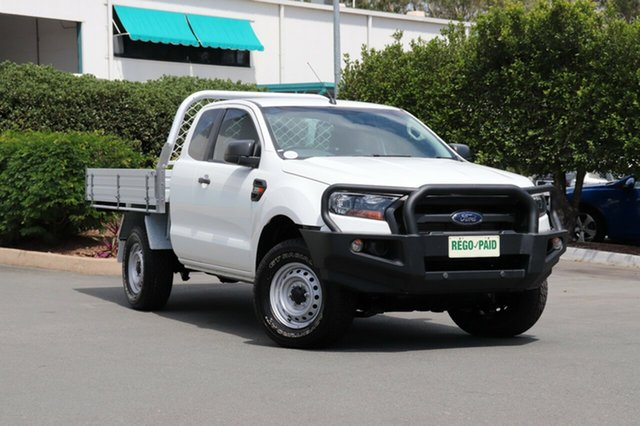 Used Ford Ranger PX MkII XL Super Cab, 2016 Ford Ranger PX MkII XL Super Cab Cool White 6 Speed Manual Cab Chassis
