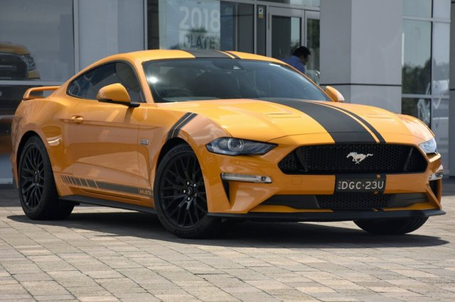 Demo Ford Mustang FN 2018MY GT Fastback SelectShift, 2018 Ford Mustang FN 2018MY GT Fastback SelectShift Orange Fury 10 Speed Sports Automatic Fastback