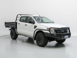 2013 Ford Ranger PX XL 3.2 (4x4) White 6 Speed Automatic Dual Cab Chassis.