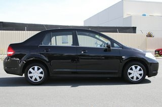 2007 Nissan Tiida C11 MY07 ST Ebony 4 Speed Automatic Sedan