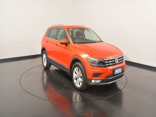 Used Volkswagen Tiguan 5N MY17 162TSI DSG 4MOTION Highline, 2017 Volkswagen Tiguan 5N MY17 162TSI DSG 4MOTION Highline Habanero Orange Metallic 7 Speed