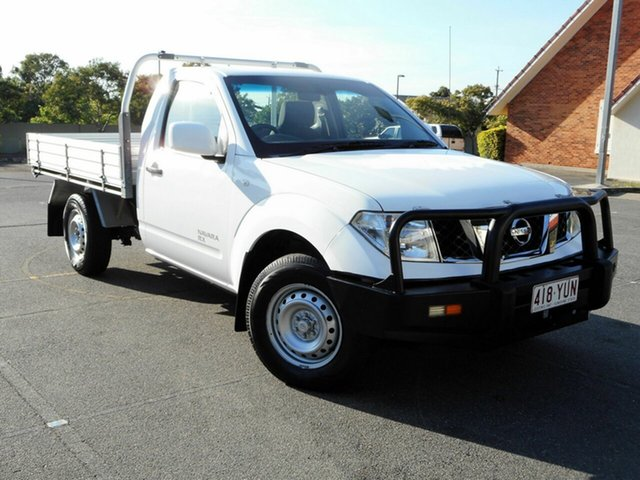 Used Nissan Navara D40 MY12 , 2013 Nissan Navara D40 MY12 RX 4X4 White 6 Speed Manual Cab Chassis