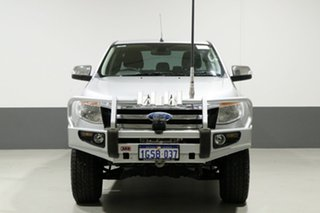 2011 Ford Ranger PX XLT 3.2 (4x4) Silver 6 Speed Manual Dual Cab Utility.