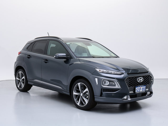 Demo Hyundai Kona OS Highlander (AWD), 2018 Hyundai Kona OS Highlander (AWD) Dark Knight 7 Speed Auto Dual Clutch Wagon