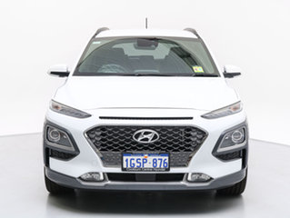 2018 Hyundai Kona OS Highlander YEL (AWD) Chalk White 7 Speed Auto Dual Clutch Wagon.