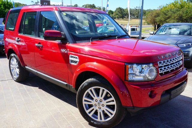 Used Land Rover Discovery 4 Series 4 MY12 SDV6 CommandShift SE, 2012 Land Rover Discovery 4 Series 4 MY12 SDV6 CommandShift SE Red 6 Speed Sports Automatic Wagon