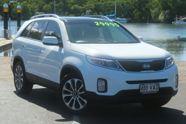 Used Kia Sorento XM MY14 Platinum 4WD, 2014 Kia Sorento XM MY14 Platinum 4WD White 6 Speed Sports Automatic Wagon