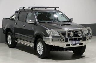 2015 Toyota Hilux KUN26R MY14 SR5 (4x4) Grey 5 Speed Automatic Dual Cab Pick-up