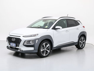 2018 Hyundai Kona OS Highlander YEL (AWD) Chalk White 7 Speed Auto Dual Clutch Wagon
