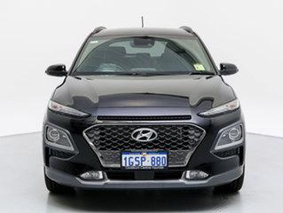 2018 Hyundai Kona OS Highlander TTR (AWD) Phantom Black 7 Speed Auto Dual Clutch Wagon.