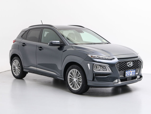 Demo Hyundai Kona OS Elite YEL (FWD), 2018 Hyundai Kona OS Elite YEL (fwd) Dark Knight 6 Speed Automatic Wagon
