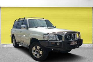 2013 Nissan Patrol Y61 GU 8 ST White 4 Speed Automatic Wagon.