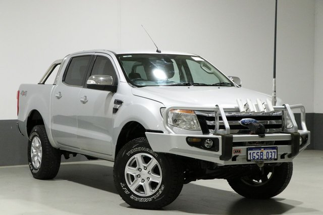 Used Ford Ranger PX XLT 3.2 (4x4), 2011 Ford Ranger PX XLT 3.2 (4x4) Silver 6 Speed Manual Dual Cab Utility