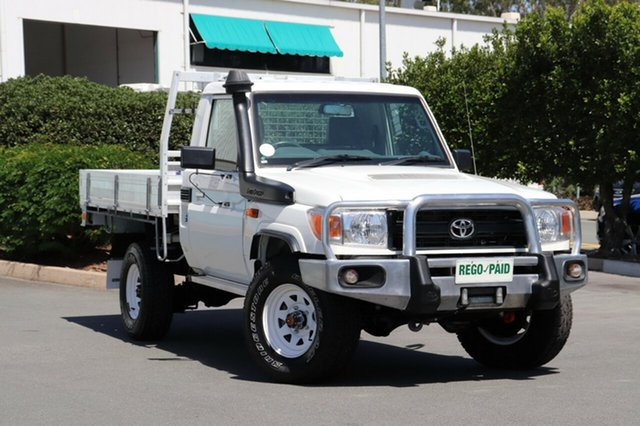 Used Toyota Landcruiser VDJ79R MY13 Workmate, 2013 Toyota Landcruiser VDJ79R MY13 Workmate French Vanilla 5 Speed Manual Cab Chassis