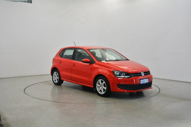 Used Volkswagen Polo 6R MY11 66TDI DSG Comfortline, 2011 Volkswagen Polo 6R MY11 66TDI DSG Comfortline Red 7 Speed Sports Automatic Dual Clutch