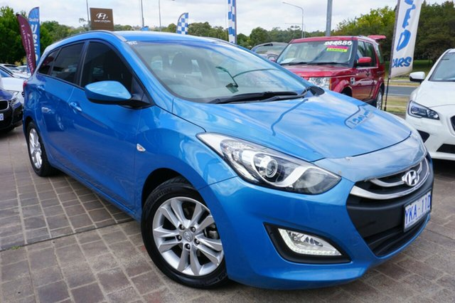 Used Hyundai i30 GD Active Tourer, 2013 Hyundai i30 GD Active Tourer Blue 6 Speed Sports Automatic Wagon