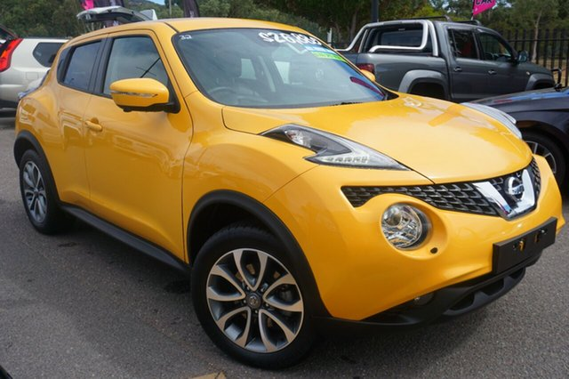 Used Nissan Juke F15 Series 2 Ti-S X-tronic AWD, 2018 Nissan Juke F15 Series 2 Ti-S X-tronic AWD Yellow 1 Speed Constant Variable Hatchback