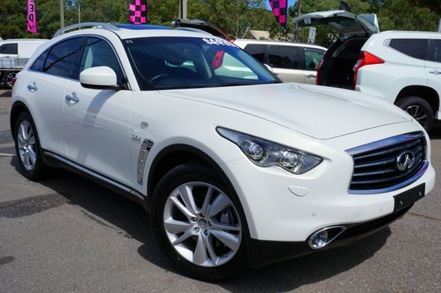 Used Infiniti QX70 S51 GT, 2016 Infiniti QX70 S51 GT White 7 Speed Sports Automatic Wagon