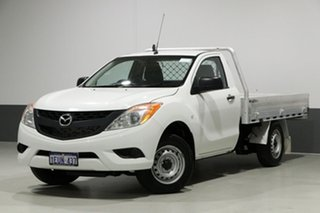 2015 Mazda BT-50 MY13 XT (4x2) White 6 Speed Manual Cab Chassis.