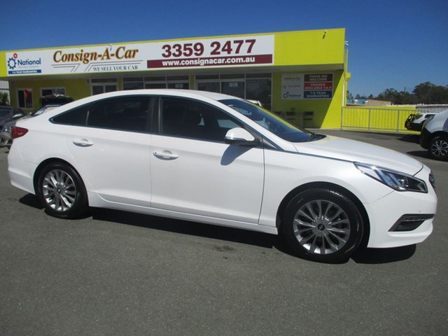 Used Hyundai Sonata LF Active, 2015 Hyundai Sonata LF Active White 6 Speed Sports Automatic Sedan