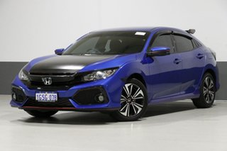 2017 Honda Civic MY17 VTi-L Blue Continuous Variable Hatchback.