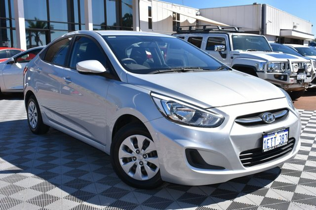Used Hyundai Accent RB2 Active, 2014 Hyundai Accent RB2 Active Silver 4 Speed Sports Automatic Sedan