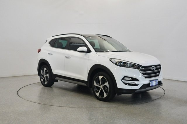 Used Hyundai Tucson TLE2 MY18 Highlander AWD, 2017 Hyundai Tucson TLE2 MY18 Highlander AWD Polar White 6 Speed Sports Automatic Wagon