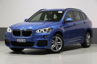 2016 BMW X1 F48 MY17 sDrive 20I Blue 8 Speed Automatic Wagon.